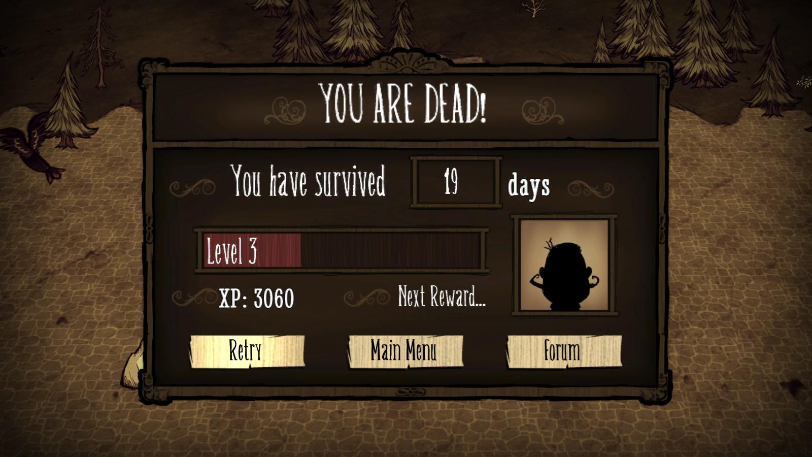 Unlocking characters via death XP.