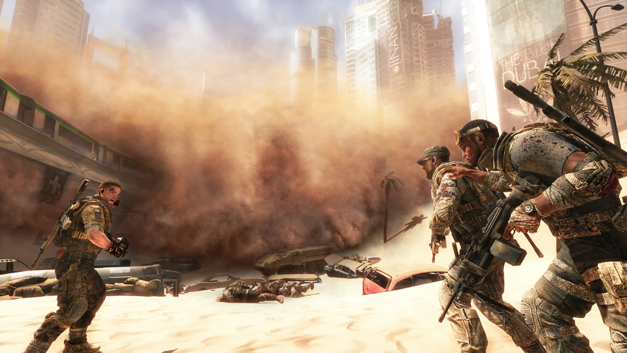 Sandstorms can break up gunfights, though they are scripted events only, sadly.